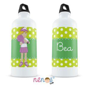 Botella Termo Personalizada Tenista Chica