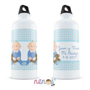 Botella Termo Personalizada Bebés Gemelos