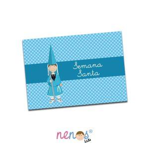 Salvamanteles Personalizado Nazarena Azul