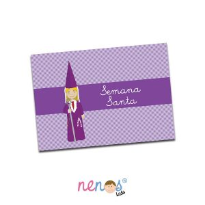 Salvamanteles Personalizado Nazarena Lila