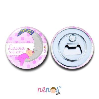 Imán Abrebotellas Personalizado Bebé Niña Luna