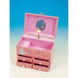Caja de Música Bailarina joyero con cajones