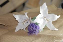 Lilium blanco de papel (10)