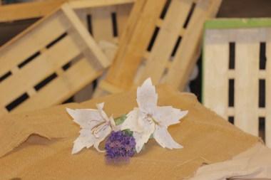 Lilium blanco de papel (4)