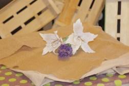 Lilium blanco de papel (5)