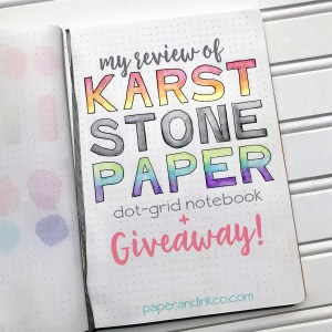 Karst Stone Paper Notebook Review & Giveaway