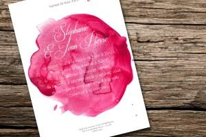 faire-part mariage watercolor