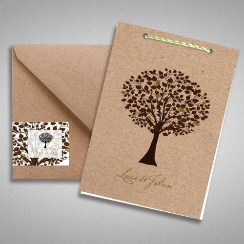 faire part mariage arbres centenaires paperandkraft