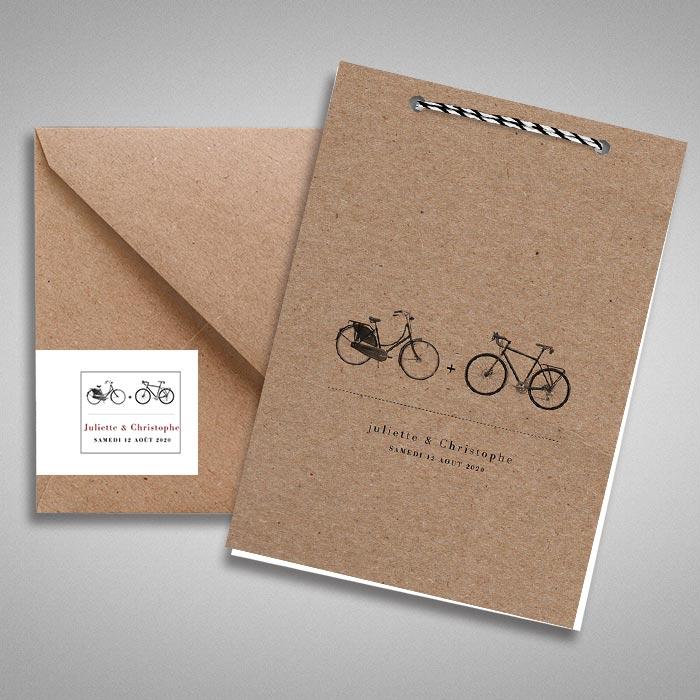faire part mariage bicyclettes vintages paperandkraft