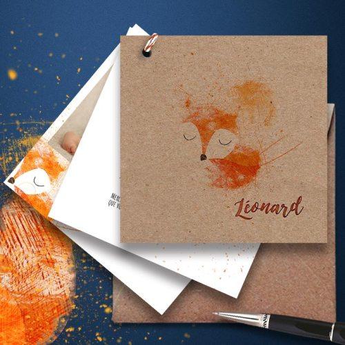 faire-part-naissance-theme-renard-en-papier-ecologique-recyclé-2