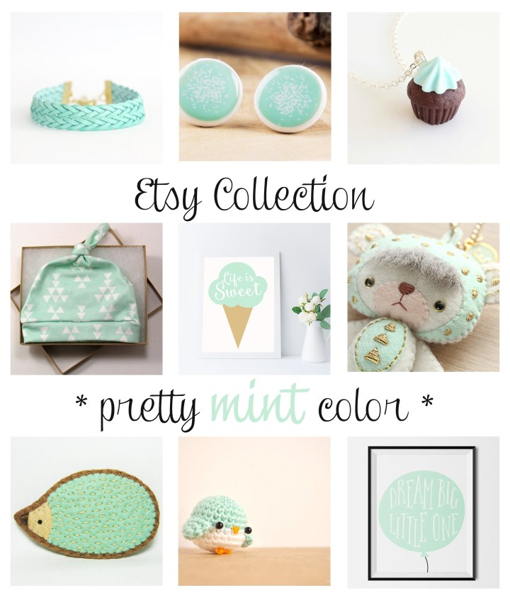 Pretty Mint Color - Etsy Collection - Paper and Landscapes