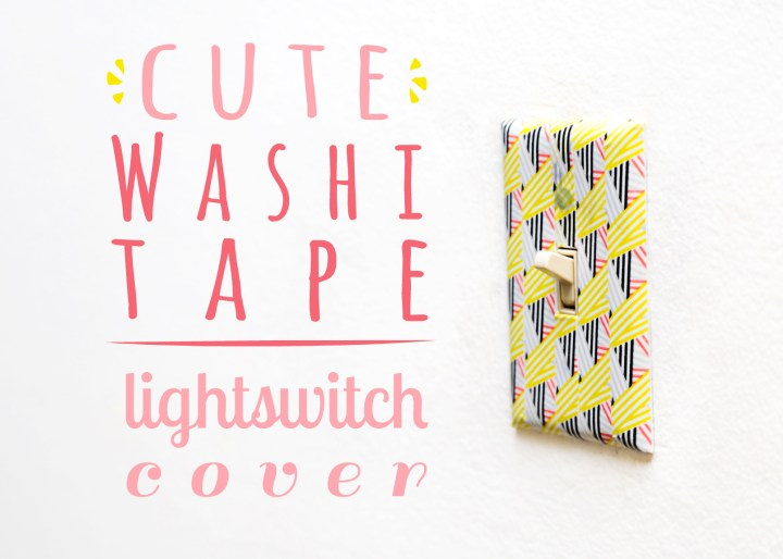 Cute Washi Tape Lightswitch Cover