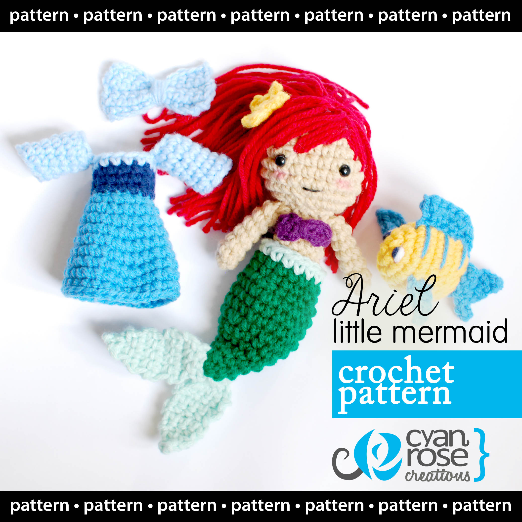Amigurumi Mermaid Doll Free Pattern – Amigurumi Free Patterns And ... | 2100x2100