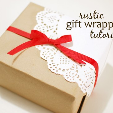 Rustic Gift Wrapping - Paper and Landscapes
