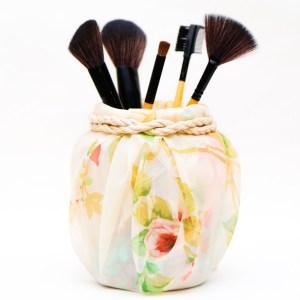 Floral Fabric - Makeup Brush Holder