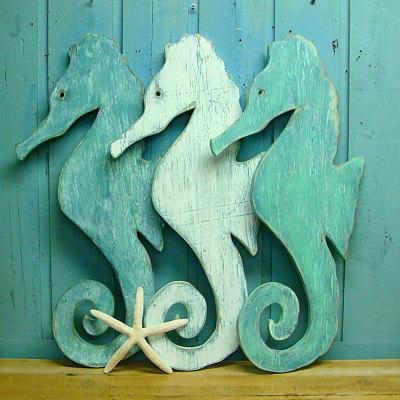 Seahorse Sign Wall Art