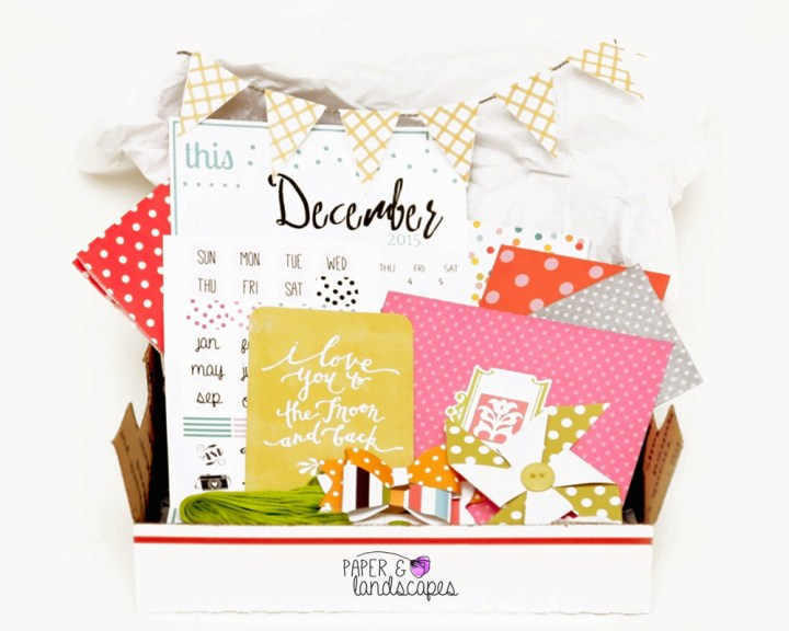 Paper Crafty Box – Monthly Kit – December