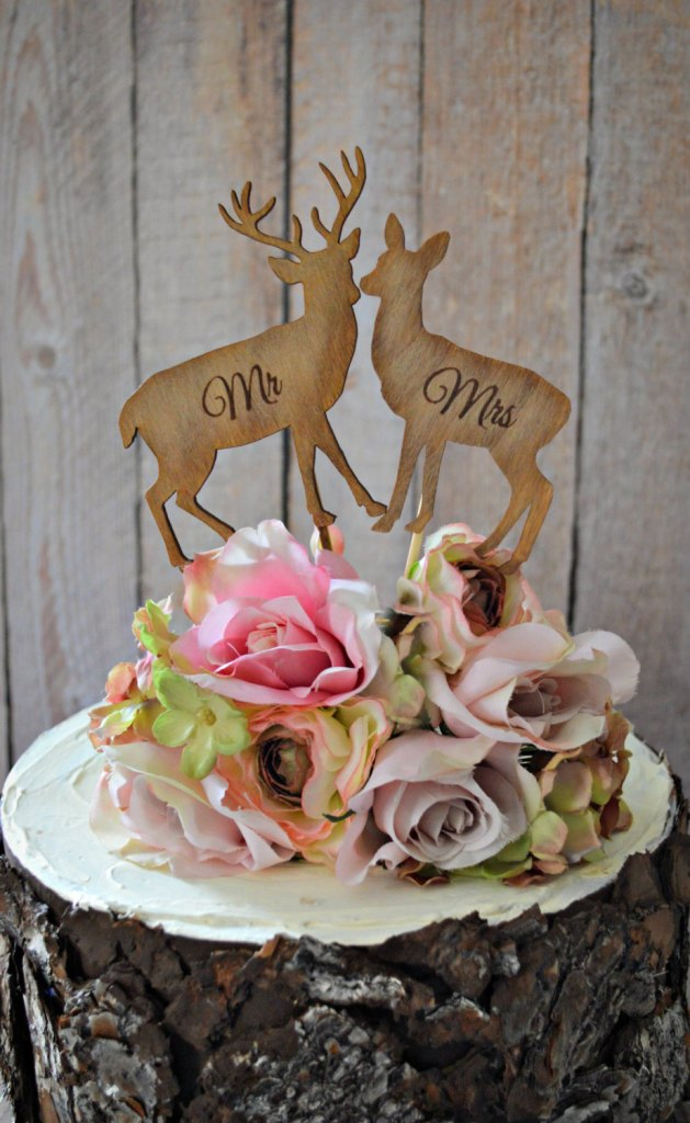 deer-bride-groom-wedding-cake topper