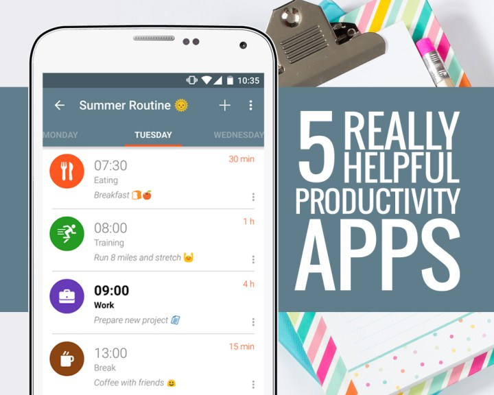 5 Really Helpful Productivity Apps