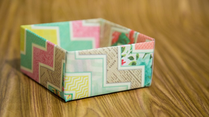 Easy Scrapbook Paper Box Tutorial 13