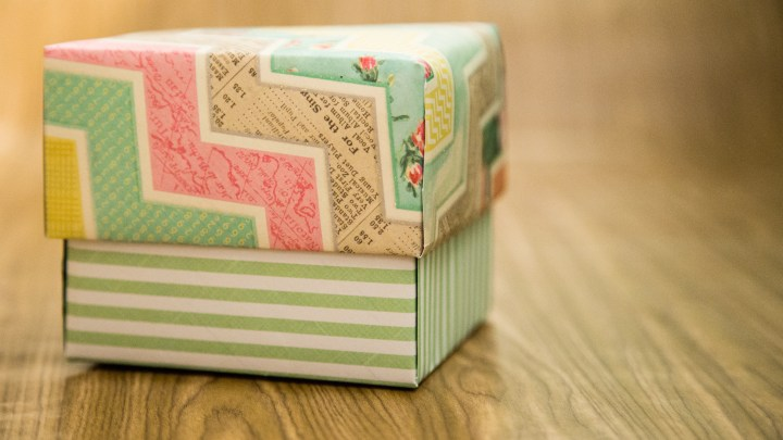Easy Scrapbook Paper Box Tutorial 14
