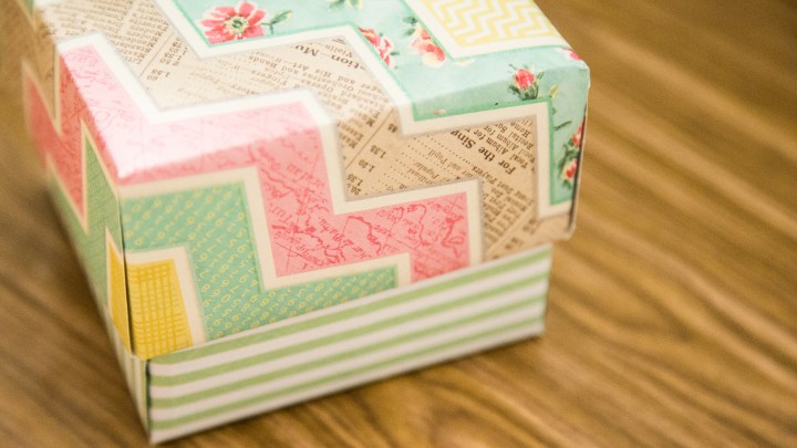 Easy Scrapbook Paper Box Tutorial 15