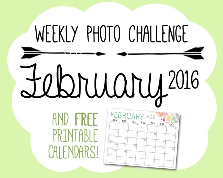 Photo Challenge Words for February and Calendar