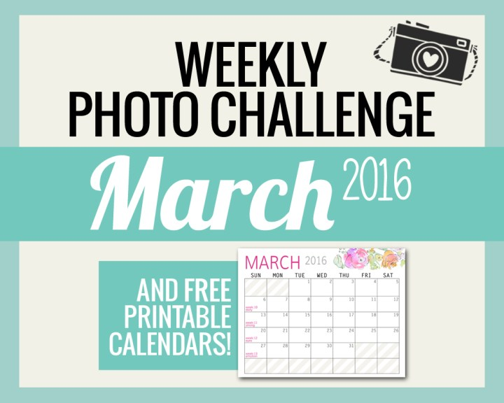 Photo Challenge Words for MARCH and Calendars