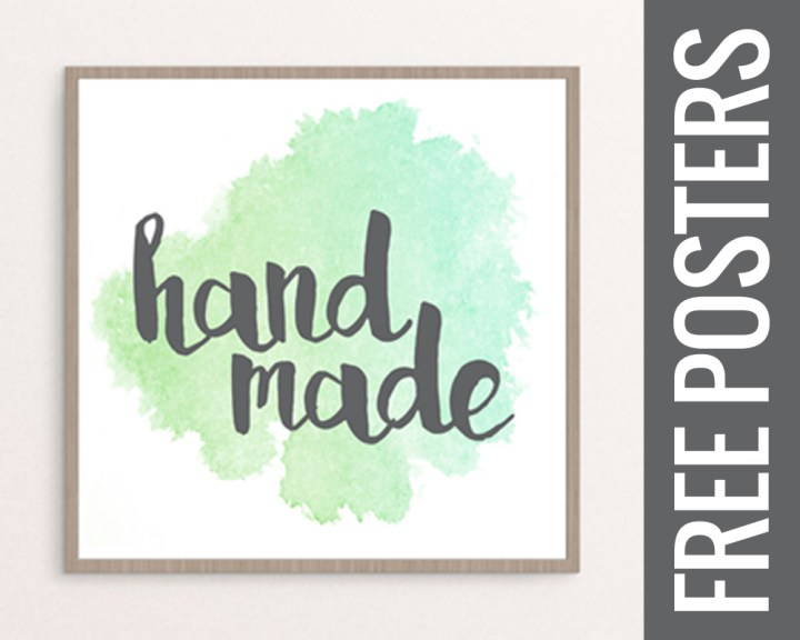 Free Printable Posters for your Craft Room or Kitchen