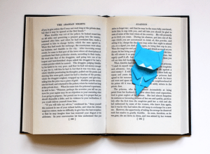 Stay Creative - Origami Cat Bookmark