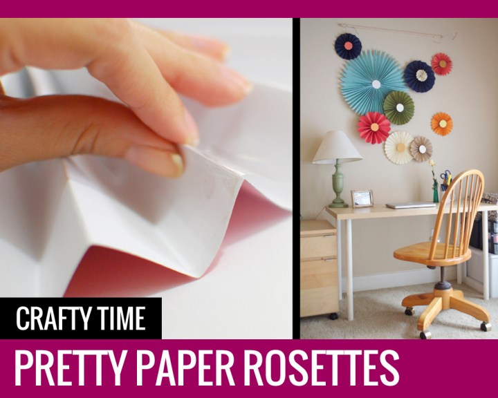 Crafty time: PRETTY PAPER ROSETTES
