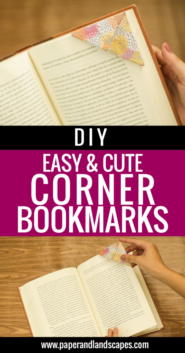 DIY Easy & Cute Corner Bookmark - Pinterest
