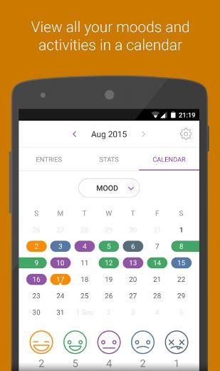 Daylio App - Calendar