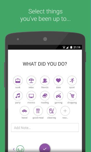 Daylio App - Select Activities