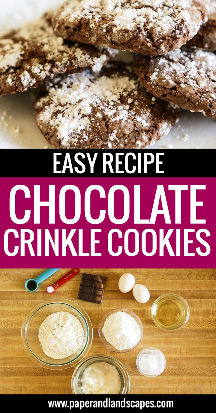 Easy Recipe Chocolate Crinkle Cookies - Pinterest