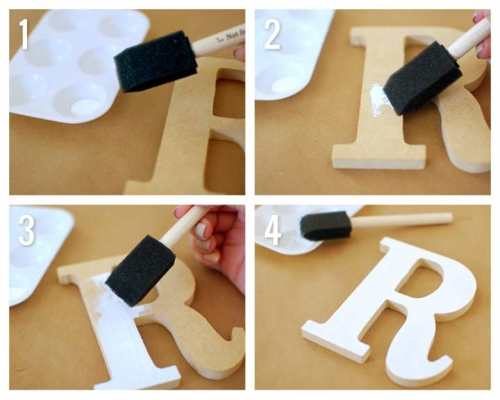 Watercolor Wooden Letter Easy Diy Ideas Paper And Landscapes