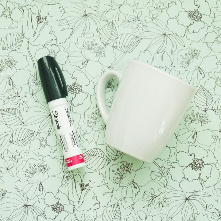 DIY Sharpie Mug Tutorial - 1