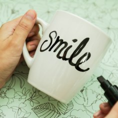 DIY Sharpie Mug Tutorial - 6