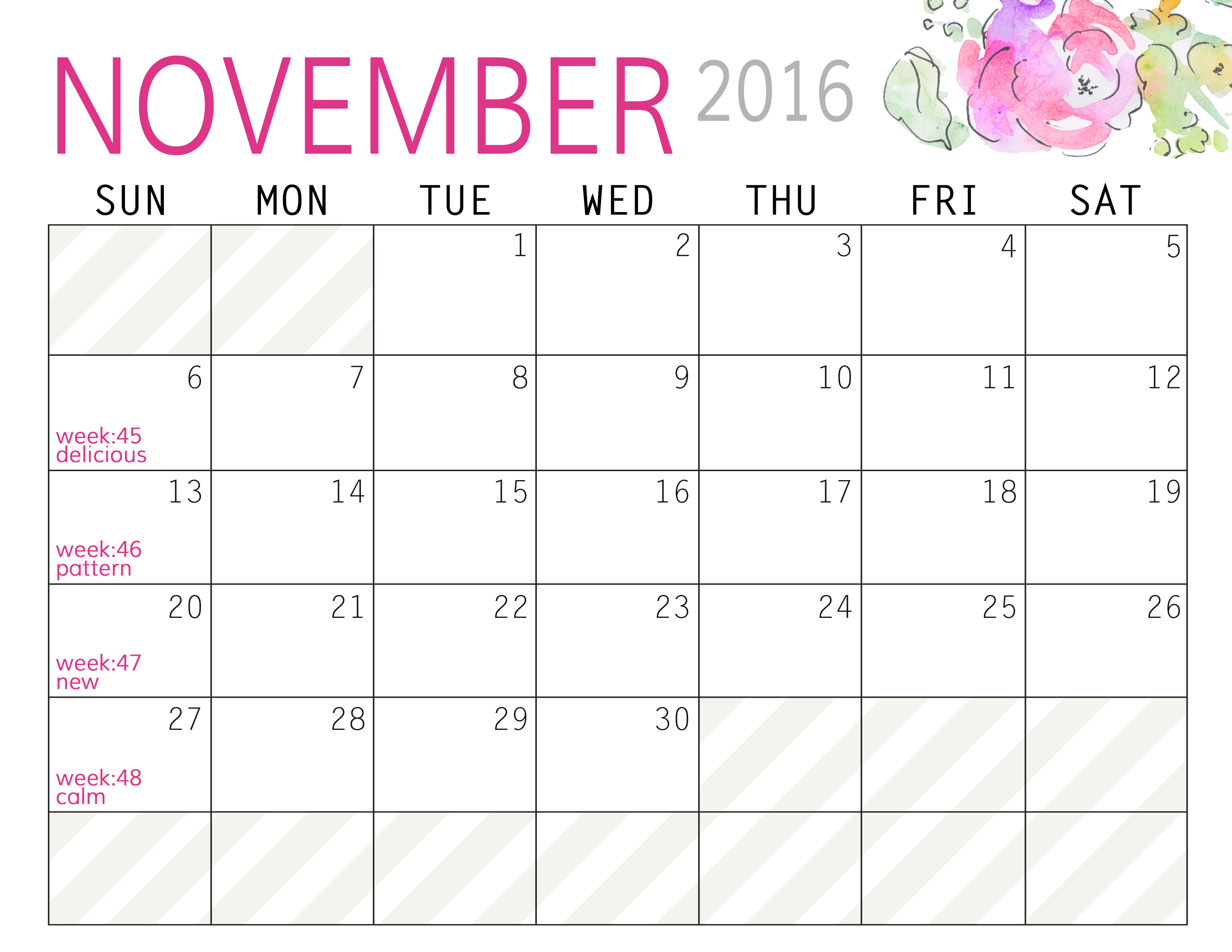 Photo Challenge For November And Free Printable Calendars Paper