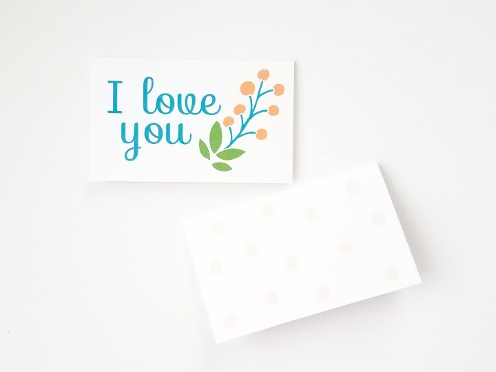 Printable Small Cards - Front and Back