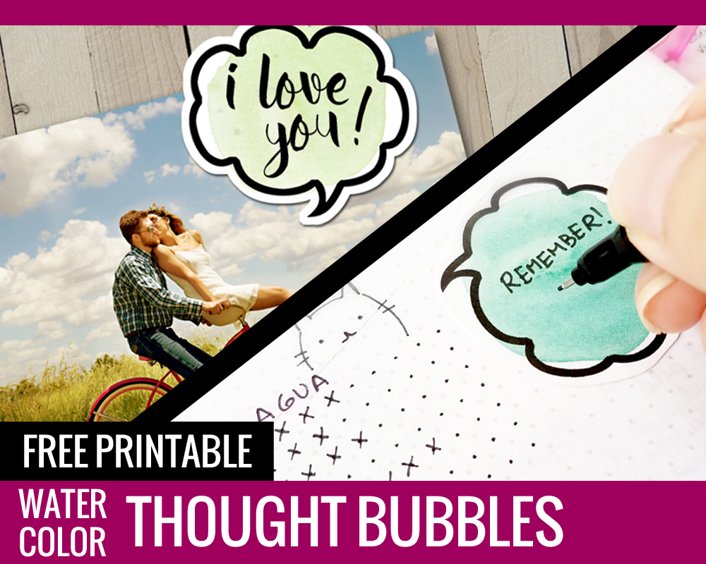 photograph regarding Printable Thought Bubbles known as Watercolor Consideration Bubbles - Free of charge Printables! - Paper and