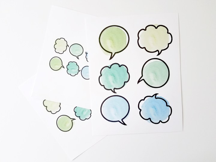 Thought Bubbles - Sizes - Paper and Landscapes
