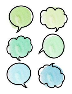 Free Printable Watercolor Thought Bubbles - Paper and Landscapes
