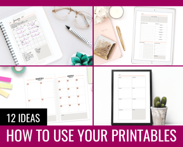 How To Use Printables - Paper and Landscapes