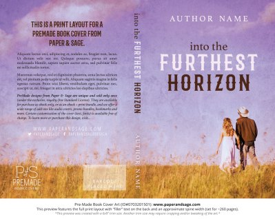 Print Layout for Pre-Made Book Cover ID#0703201501 (Into the Furthest Horizon)