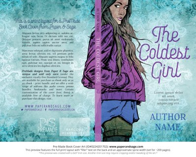 Print layout for Pre-Made Book Cover ID#0224201702 (The Coldest Girl)