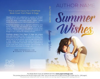 Print Layout for Pre-Made Book Cover ID#0331201701 (Summer Wishes)