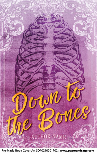 Premade Book Cover Art : Premade book cover  down to the bones paper