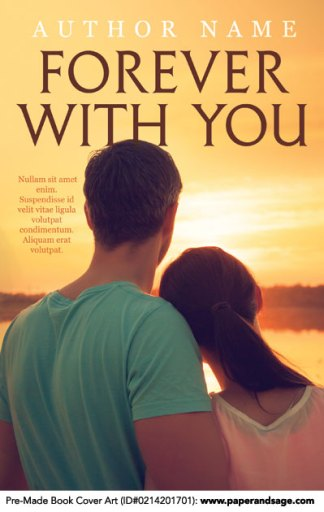 Pre-Made Book Cover ID#0214201701 (Forever With You)