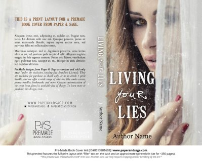 Print Layout for Pre-Made Book Cover ID#0513201601 (Living Your Lies)